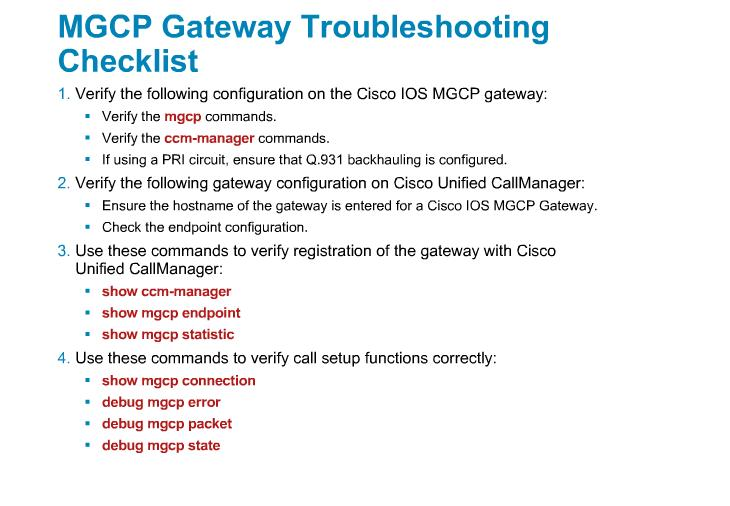 Troubleshooting Callmanager Issues : MGCP & H323 | My Blog